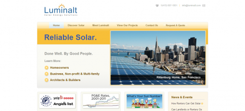 Responsive, Rich Website Design for Luminalt Solar Energy