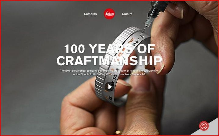 detroit website design Smart Web Design: Leicas Ode to Craftstmanship